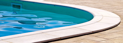 edge of an outdoor swimming pool